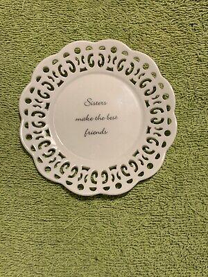 "3"" Natural Life Sisters Plate"