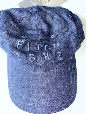 NEW ABERCROMBIE AND FITCH CLASSIC Blue fitch 1892 hat
