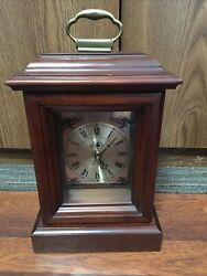 Cooper Classics Mantle Clock, Solid Wood, with Chime -Clean