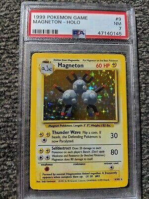 PSA 7 NM Magneton 9/102 Holo Base Set Pokemon Trading Card