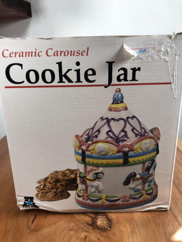 Cermic Carousel Cookie Jar