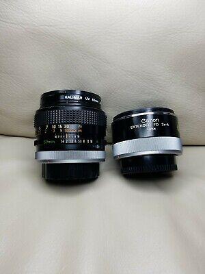 CANON FD 50mm f/1.4 S.S.C. ssc MF FD Mount 1:1.4 JAPAN and FD 2x-A extender