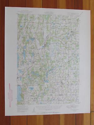 Swanville Minnesota 1950 Original Vintage USGS Topo Map