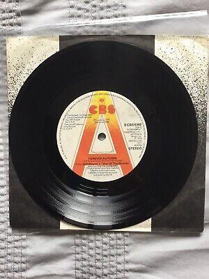 Jeff Wayne/Justin Hayward-Forever Autum 1978 CBS Demo Ex Play