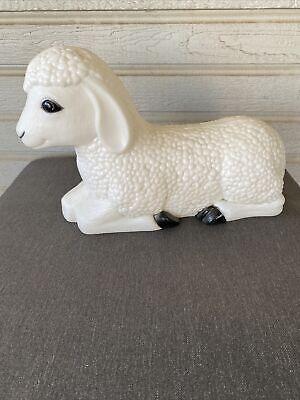 VINTAGE GENERAL FOAM BLOW MOLD SHEEP LAMB CHRISTMAS NATIVITY YARD DECOR Works!