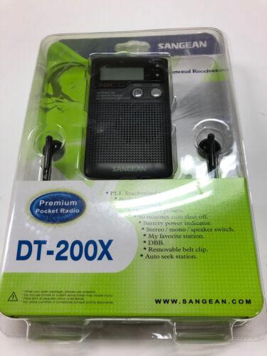 Sangean DT 200X FM-Stereo AM / FM Digital Tuning Personal Re