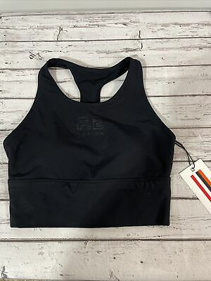 P.E Nation Multi Sweeper Sports Bra Black NEW with Tags Women's Small $90