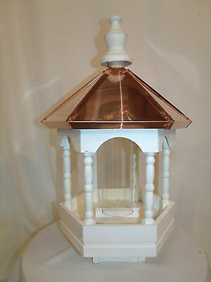 Copper top  Roof Bird Feeder Amish Made in USA Large 22 inches High 14 wide