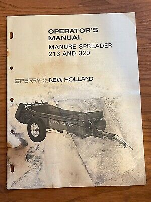 Sperry New Holland Operators Manual Manure Spreader 213 329 Operators Manual