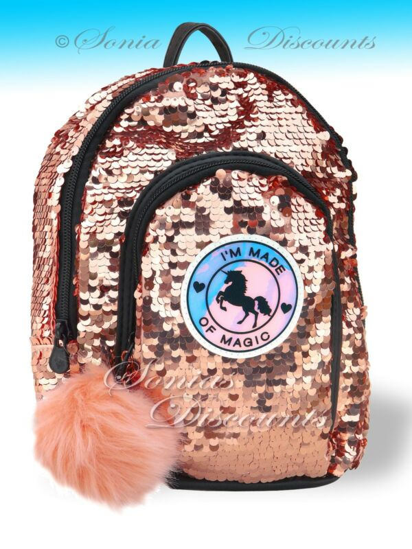 JUSTICE GIRLS UNICORN SEQUIN MINI BACKPACK - NWT - Super Cute ... d82445a9c40df