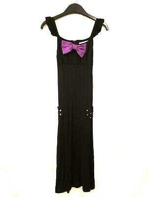 NWT Monalili Jumper Maxi Dress Girls Outfit Size 6X Black Color Sleeveles Pocket