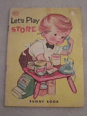 1970 Let's Play Store Sunny Book by Mary (Sunnies Store)