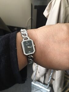 New silver Chanel watch with stones