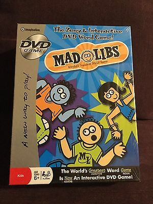 NEW DVD game Mad Libs Word Game Zany & Interactive Imagination