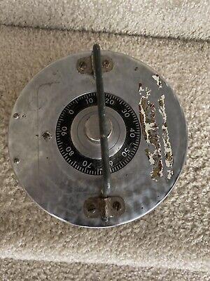 18.5 Lbs Steel Combination Lock Safe Heavy 6.5 Diameter Old Antique Security