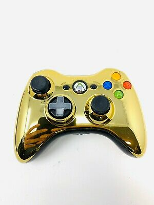 Official Xbox 360 Controller Gold Chrome Wireless