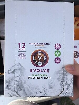 Evolve Plant-Based Protein Bars Peanut Butter & Jelly 12ct Best Buy