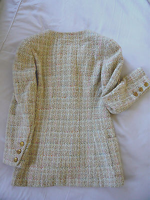 Chanel veste tweed jacket authentique boucle t 38 magnifique