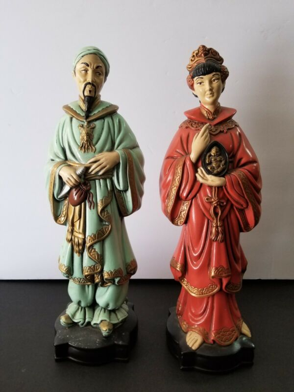 Holland Mold Figures 19th century Chinese Upper Class Couple Oriental China