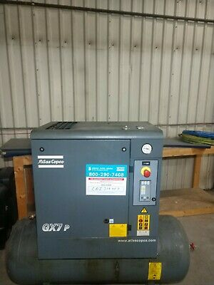 10 Hp Atlas Copco Gx7 P Rotary Screw Air Compressor