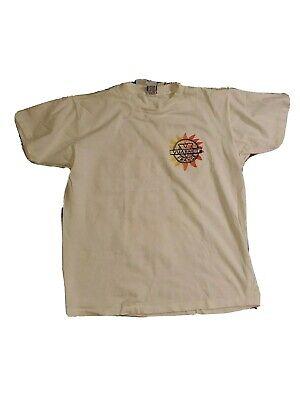 Vuarnet France Made in USA 1990 White Pocket Sun Logo Back T Shirt (Vuarnet Usa)