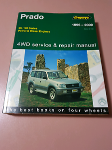 Gregory's Toyota prado 95-120 series workshop manual Greenwith Tea Tree Gully Area Preview