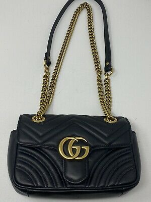 Authentic Gucci GG Marmont 2.0 Mini Matelasse Shoulder Bag