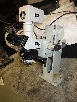Olympus Bh2 Trinocular Microscope Darkbright Bfdf Pm-10ad Camera Mountstand