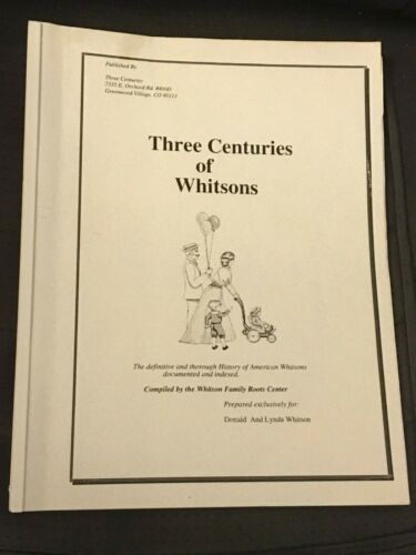 Three Centuries of Whitsons, 1850-1860 Census, Residence Records Whitson Family