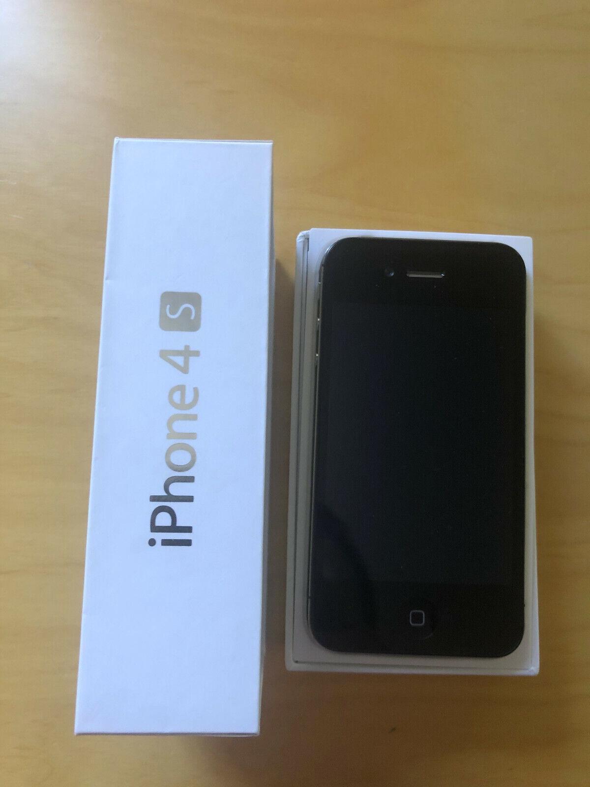 Apple iPhone 4s - 16GB - Schwarz (Ohne Simlock) sehr guter Zustand & OVP