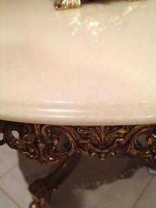 Brass marble wall table and matching mirror Quakers Hill Blacktown Area Preview