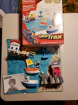 Fisher Price Geo Trax Ocean Front Marina w/Playmat Boats Kohls Exclusive