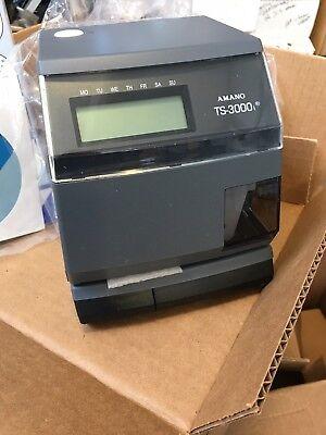 Amano Ts-3000i Automatic Time Sync Web Clock - Oats Compliant - Nib - New In Box