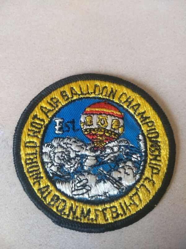 Vintage 1973 First World Hot Air Balloon Championship Patch