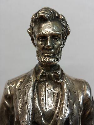 LINCOLN 1898 By George Bissell Sterling Silver Rare Statue 999 Limited 14/1000