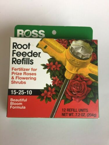 Ross Rose & Flowering Shrubs Fertilizer Root Feeder Refills (12 units), 15-25-10