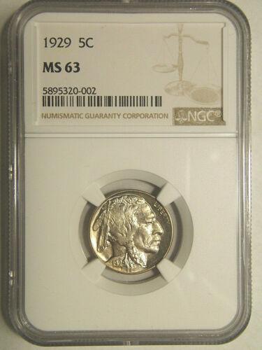 1929 Buffalo Nickel MS 63 NGC