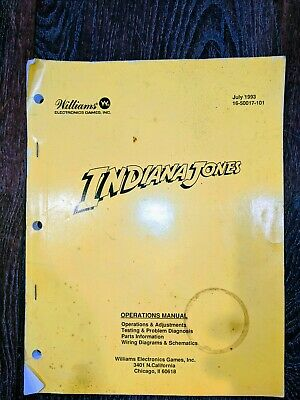 Williams - Pinball -  Original Indiana Jones Operation Manual