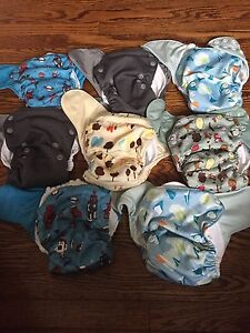 Grovia all in one cloth diapers. Hard to find prints.