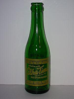 1948 ALKA-TIME 6½ Oz GREEN Glass BOTTLE ACL Quaker Bottling Philadelphia w/ CAP