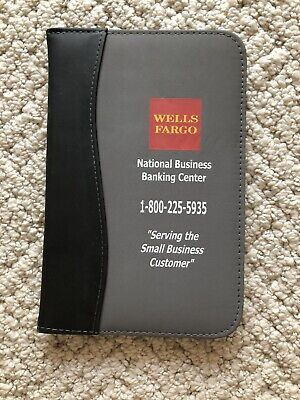 Wells Fargo Business Banking Case With Paper Pad With Credit Card Holder