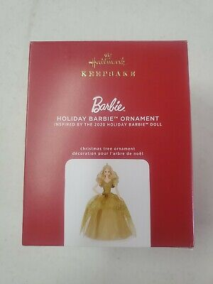2020 Hallmark Keepsake Ornament Holiday Barbie Gold Dress