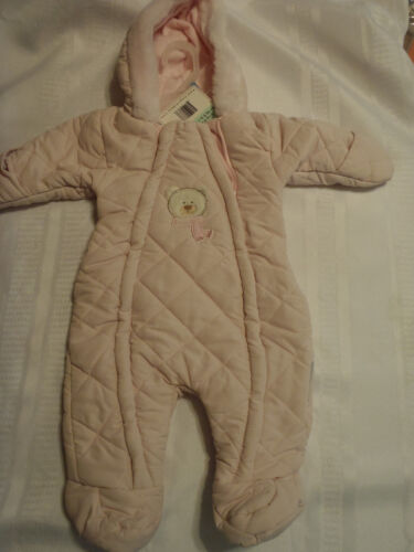 Cotton Candy By Magic Kids Pink 3-6 Month Winter Warm Snowsuit Coat NWT