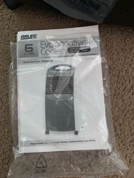 Arlec 6 litre evaporative cooler manual.