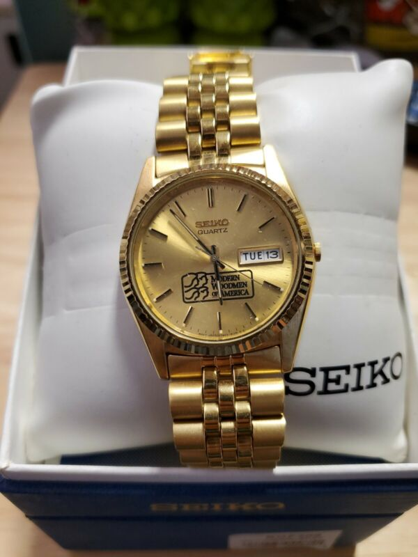 Seiko SGF206 Gold Modern Woodman Of America Watch