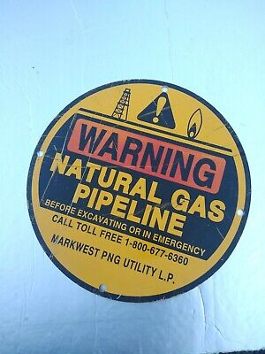 "Old Vintage Natural Gas Pipeline 12"" Metal Sign oil & gas"