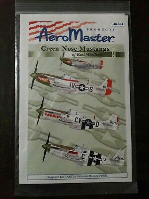 AeroMaster decals 48-634 1/48 Scale Green Nose Mustangs East Wretham Part I