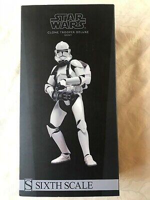 Sideshow Star Wars Clone Trooper Deluxe 'Shiny' 1:6 Sixth Scale Figure