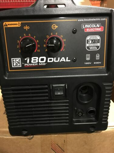 Lincoln Power Mig 180 Dual-Motorsports Demo Welder w/ complete  Package K3018-2