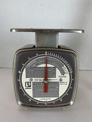 Vintage Pelouze Z5 Postal Scale - 5 Pound Capacity - April 1988 Rates - Retro
